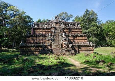 The Celestial Temple Phimeanakas Is Part Of The Royal Palace Angkor Thom
