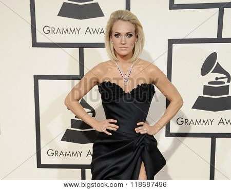Carrie Underwood at the 58th GRAMMY Awards held at the Staples Center in Los Angeles, USA on February 15, 2016.