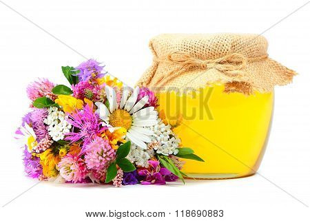May honey with flowers
