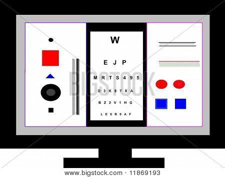 Television Screen Eye Exam