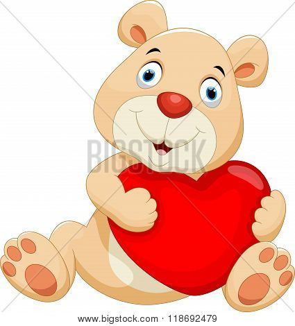 Bear with the big red heart