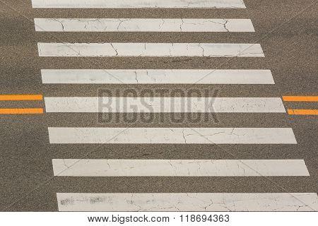 Urban Pedestrian Crosswalk.