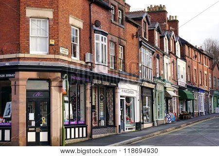 Street Of Shops In Leek, Staffordshire, England