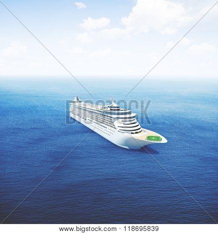 Cruise Ship Nautical Vessel Aquatic Vacation Summer Concept
