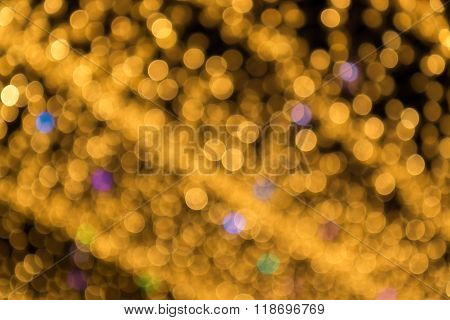 Abstract Light Celebration Blur Background, Golden Lights.