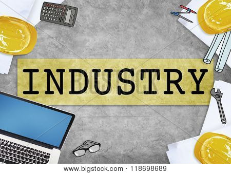 Industry Factory Manufacturing Production Sector Concept