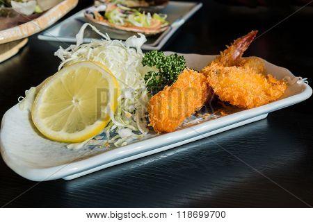 Fried Prawn Balls, Shrimp Fritter.