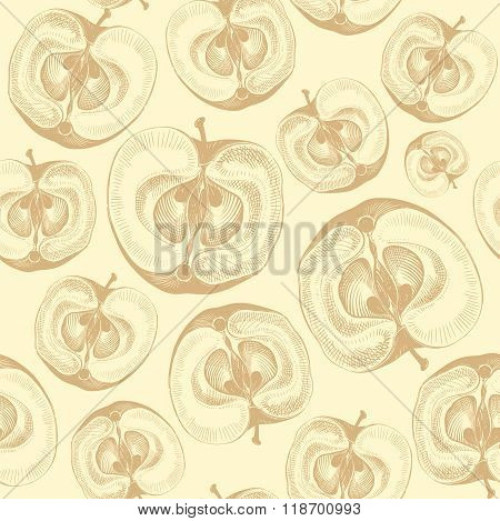 Apple fruit wallpaper seamless pattern.