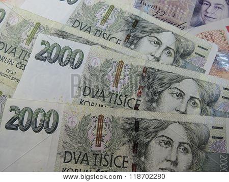 Czech Korunas Banknotes