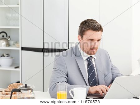 Businessman Working On His Laptop