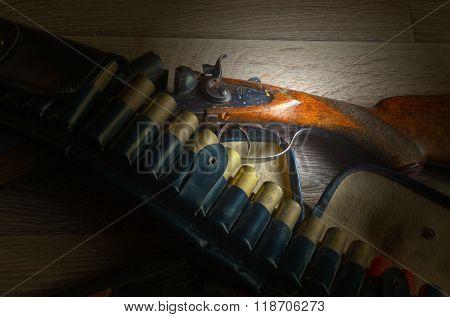 Vintage hunting rifle