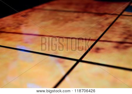 Led Floor Technology And Deep Yellow Electronic Reflection