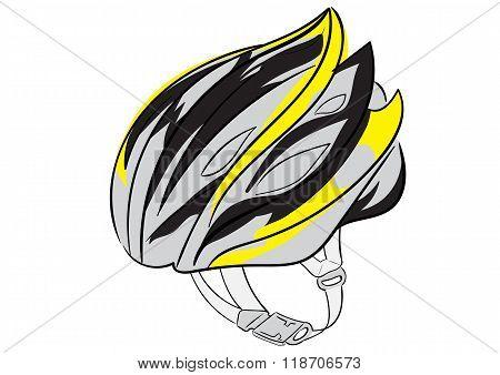 Bicykle helmet of safety
