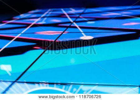 Bright Colored Led Floor Technology