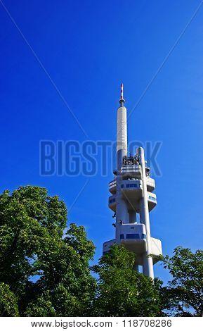 View on TV tower Prague Czech Republic