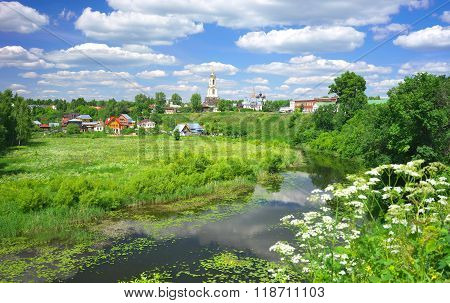 Summer landscape in Suzdal