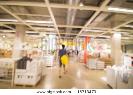 Blur Department Store With Bokeh Background