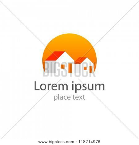 Home - template for the logo: house logo,  home,   home icon,  real estate logo,  building logo,  construction logo, real estate, housing, registration, etc..