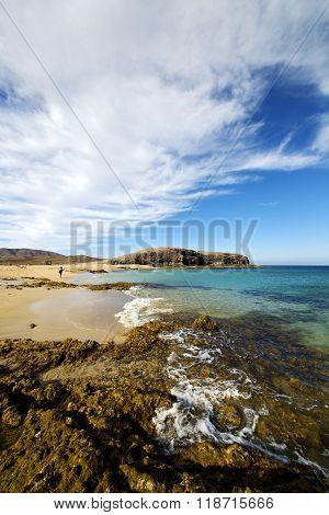 Wate Lanzarote Coastline   Pond  Rock Stone Sky   Musk  And Summer
