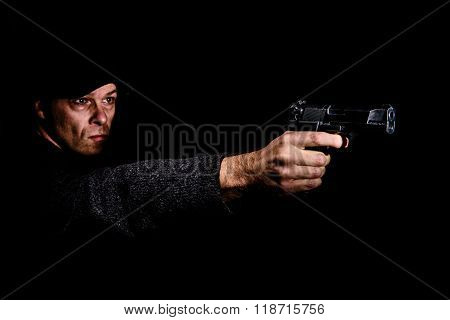 Man With Gun Aiming