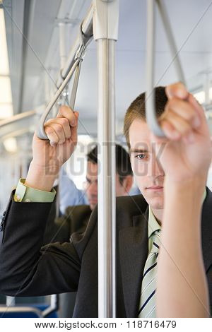 Man commuting