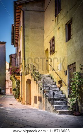 Pienza In The Evening, Tuscany