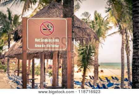Not Smoking Area At The Beach