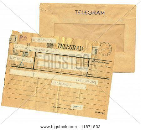 vintage telegram poland
