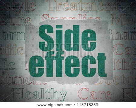 Health concept: Side Effect on Digital Paper background