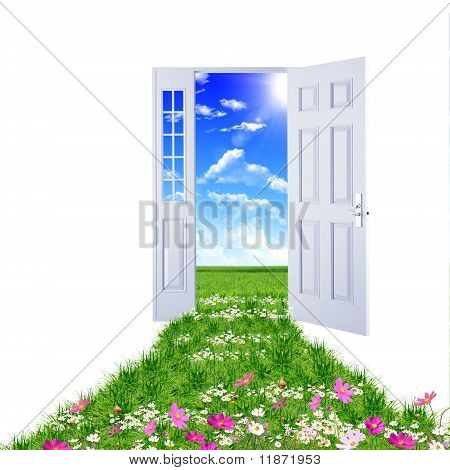 door toward nature