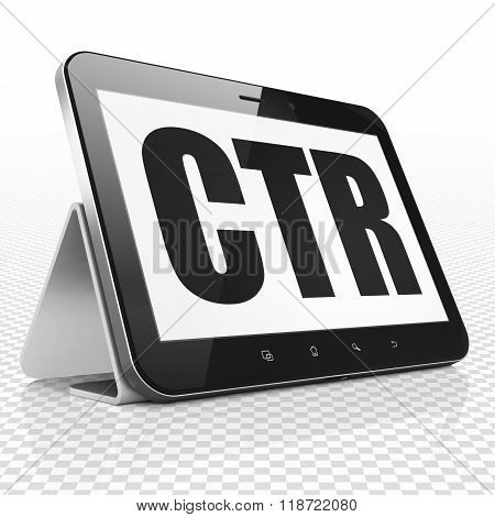Finance concept: Tablet Computer with CTR on display