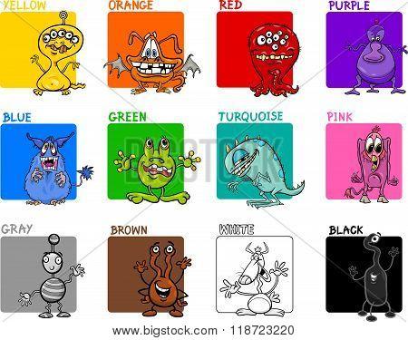 Main Colors Cartoon Set