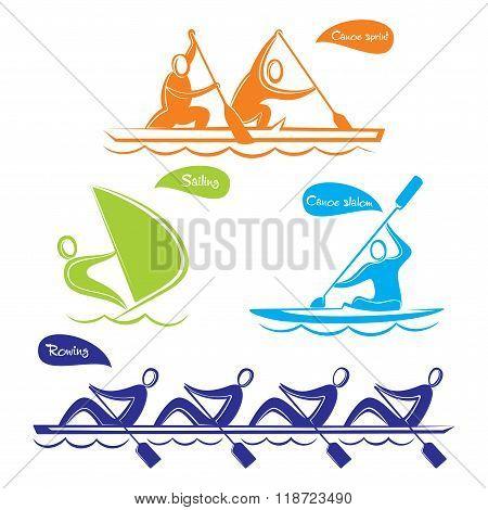 Olympics water sports symbol design
