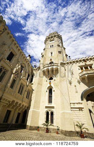Tower of Hluboka castle Czech Republic