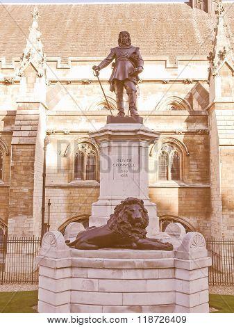 Oliver Cromwell Statue Vintage