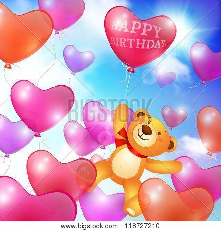 Celebratory background greeting card template