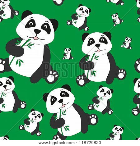 Seamless Pattern Of Pands