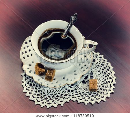 Coffee Cup And Saucer, Retro Style