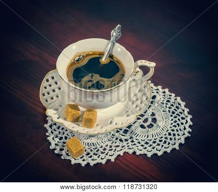 A Coffee Cup And Saucer, Retro Style