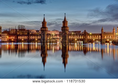 The River Spree and Oberbaumbruecke