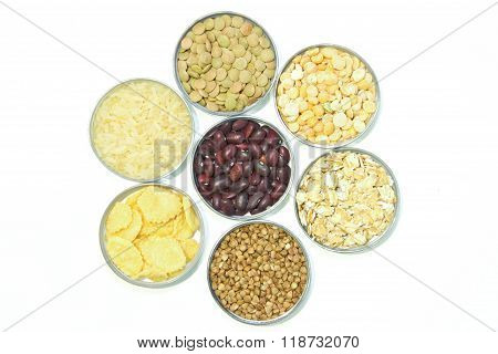 Cereals On A White Background