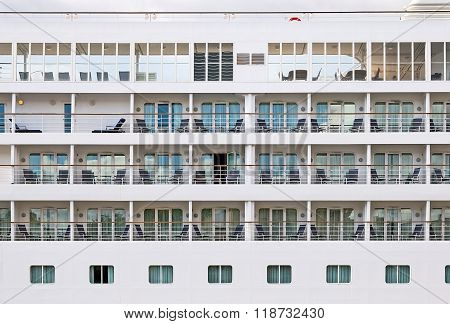 Cabins on a cruiser liner