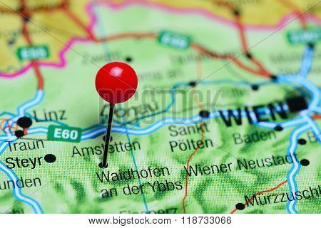 Waidhofen an der Ybbs pinned on a map of Austria