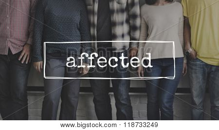 Affected Concerned Related Afflicted Concept