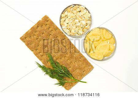 Breakfast Cereals: Bread, Oatmeal, Corn Flakes