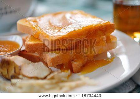 Breakfast Toast With Jam Helianthus Tuberosus