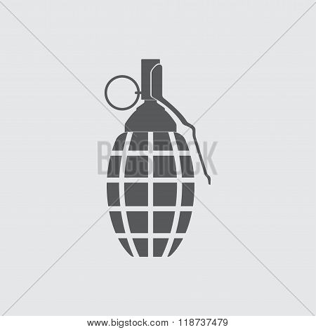 Hand grenade icon. Vector illustration.