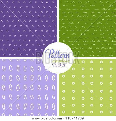 Vector Set Witch Seamless Pattern Witch Sketch Texture