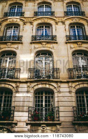 Exterior Architecture Of Parisian Appartments