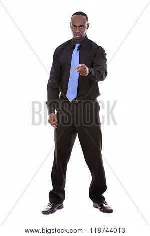 Angry Black Businessman